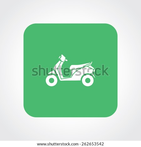 Very Useful Flat Icon of Scooter. Eps-10. - stock vector