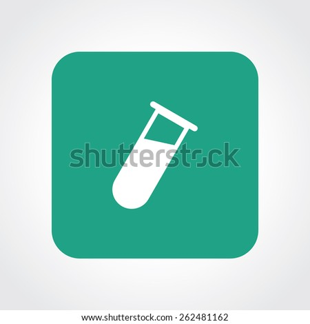 Very Useful Flat Icon of Testing Tubes. Eps-10. - stock vector