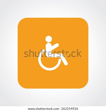 Very Useful Flat Icon of Wheelchair & Patient. Eps-10. - stock vector