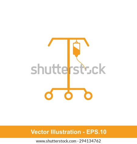 Very Useful Icon Of IV Stand. Eps-10. - stock vector