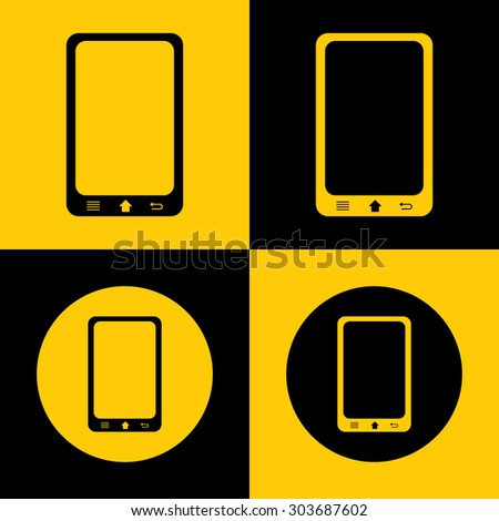 Very Useful Icon Of Mobile Phone. Eps-10. - stock vector