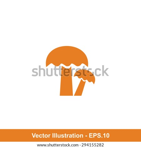 Very Useful Icon Of Mushrooms. Eps-10. - stock vector