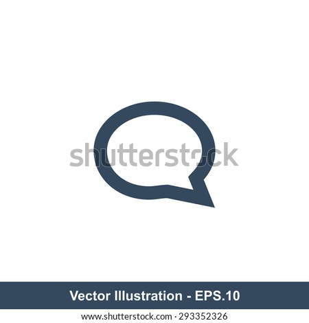Very Useful Icon Of Speech Bubble (Comments). Eps-10. - stock vector
