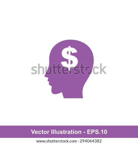 Very Useful Icon Of Think Money. Eps-10. - stock vector