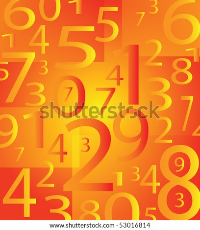 very vector nice modern number background with orange color