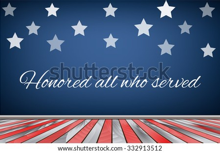 Veterans day background flag usa. Vector illustration - stock vector