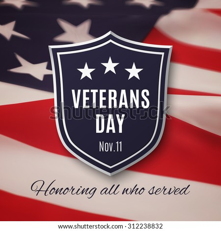 Veterans day background. Vector illustration. - stock vector