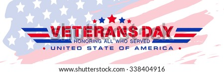 veterans day logo vector