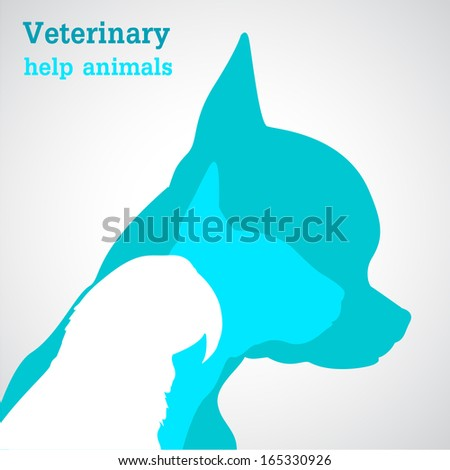 Veterinary help animals - stock vector