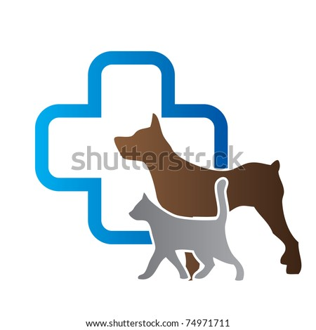 Veterinary sign - stock vector