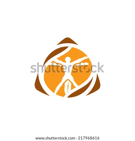 Vetruvian man sign Branding Identity Corporate vector logo design template Isolated on a white background - stock vector