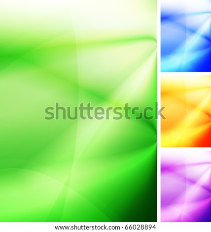 Vibrant abstract background. Four colors. Vector illustration - stock vector