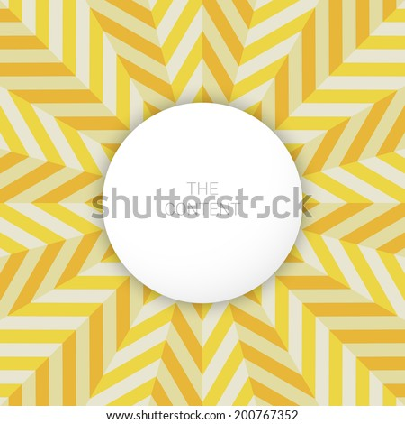 Vibrant abstract sun background - text box graphics - stock vector