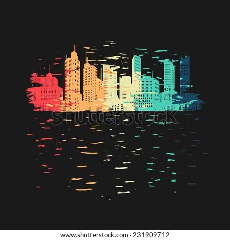 Vibrant city symbol - stock vector
