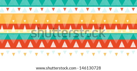 Vibrant ikat stripes horizontal seamless pattern background