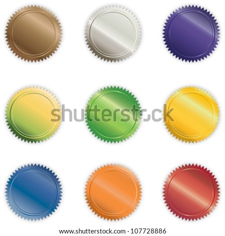 Vibrant Shiny Buttons - stock vector