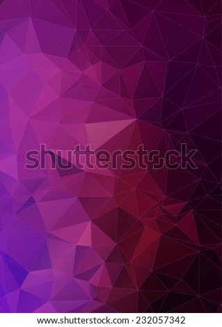 vibrant violet polygonal background - stock vector