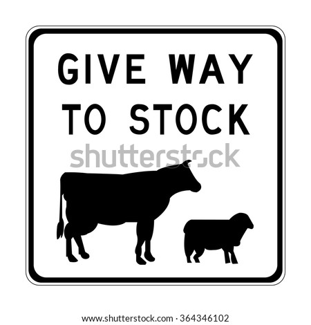Victoria Give Way to Stock Sign - stock vector