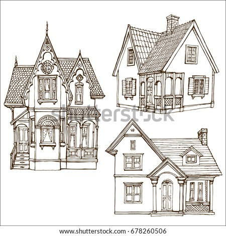 victorian house drawings house drawing stock images royalty free images amp vectors 15332