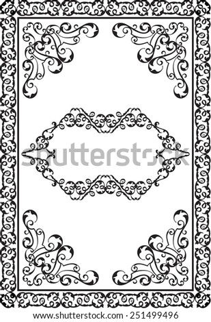 Victorian design elements and page decoration on white