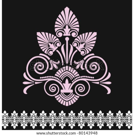 Victorian floral shape - stock vector