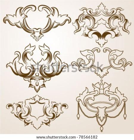 Victorian Frames - stock vector