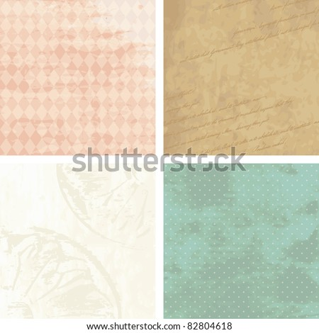 Victorian grunge backgrounds (eps10); jpg version also available - stock vector