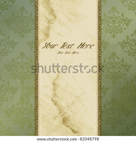 Victorian grungy vintage banner (eps10); jpg version also available - stock vector