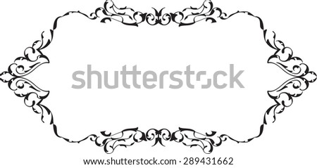 Victorian old fine page is on white - stock vector