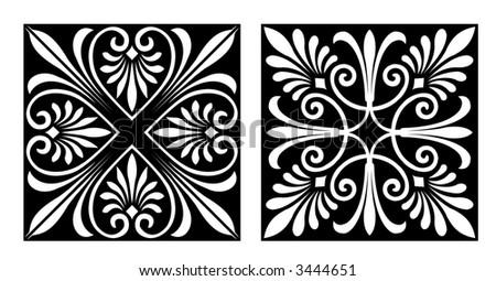 Victorian Style Design Elements (Vector) - stock vector