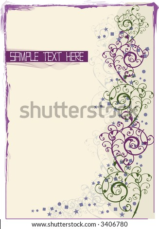 Victorian style scroll background with title copy area in vector format. - stock vector