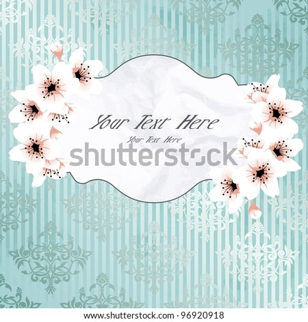 Victorian vintage banner with apple blossoms (eps10); jpg version also available - stock vector