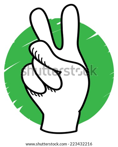 Victory sign - stock vector