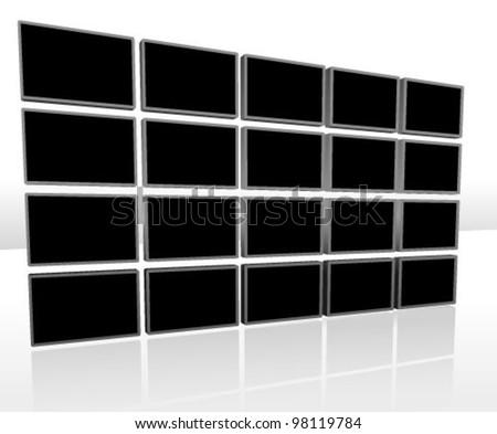 Video Background Vector Illustration (Black background design template) - stock vector