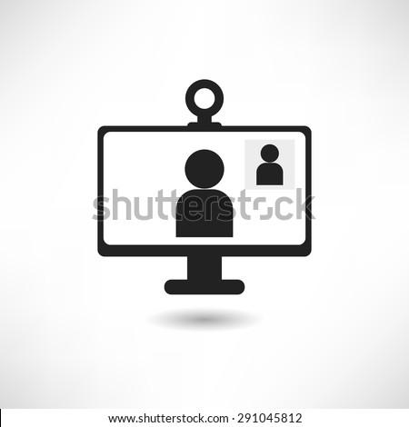 Video call icon - stock vector