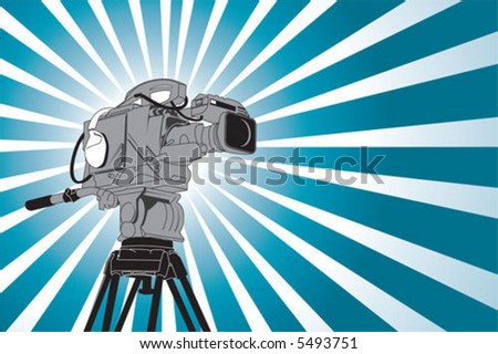 video camera - stock vector
