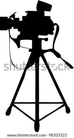 VIDEO CAMERA VECTORIAL - stock vector