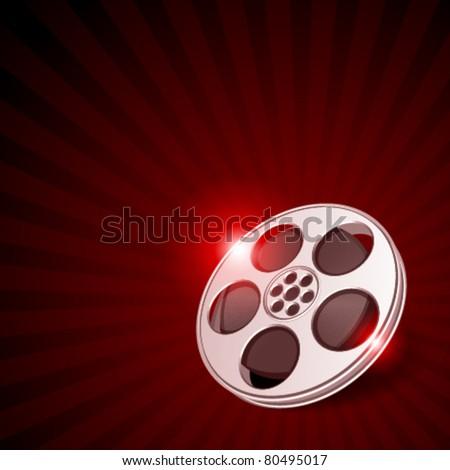 Video film tape cinema vector background. Eps 10. - stock vector