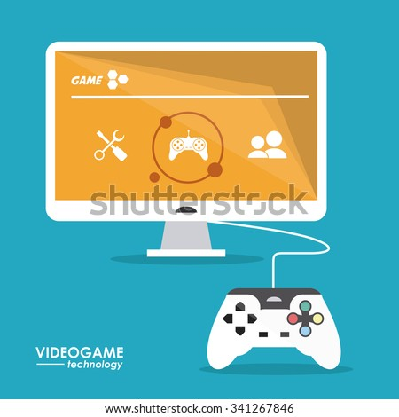 Video game  concept and multimedia icons design, vector illustration 10 eps graphic. - stock vector