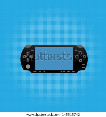 Video game controller - stock vector