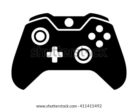 Video game controller or gamepad flat icon for apps and websites - stock vector