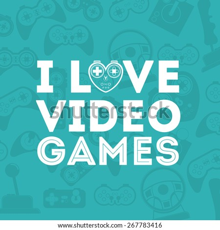 Video Games design over blue background, vector illustration - stock vector