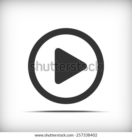 video icon - vector  - stock vector
