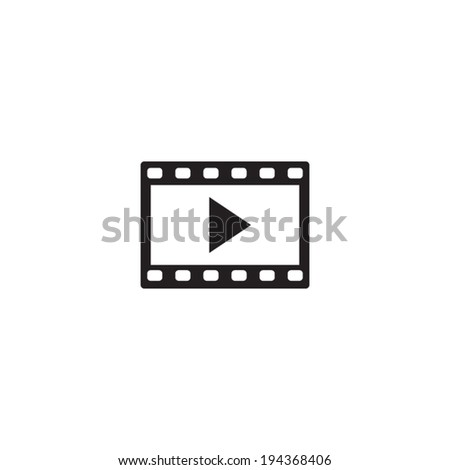 video icon, vector illustration - stock vector