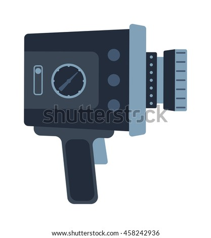 Video movie cinema camera vector illustration - stock vector