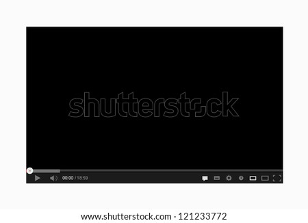 Video player 4 - stock vector