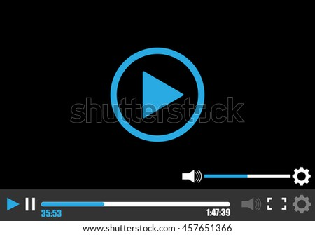video, player - stock vector