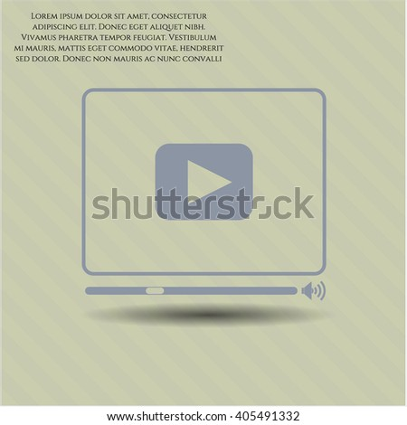 Video Player icon vector illustration