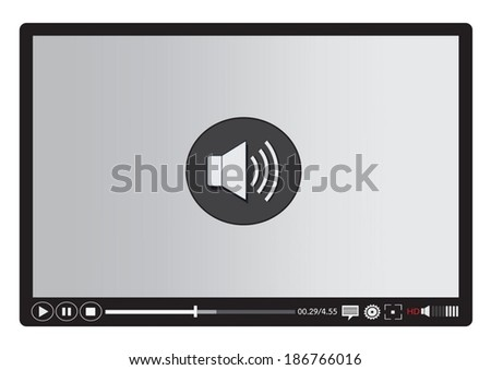 Video player media for web and mobile apps - stock vector