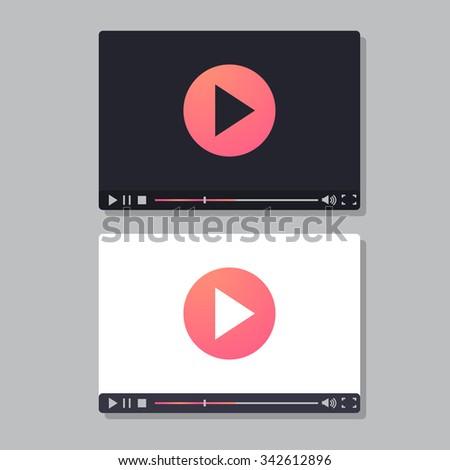 Video player. Vector illustration - stock vector